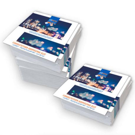 Volantini quadrati 10,5x10,5 stampa fronte/retro