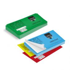 Etichette cm.7,4x10,5 adesiva colorata