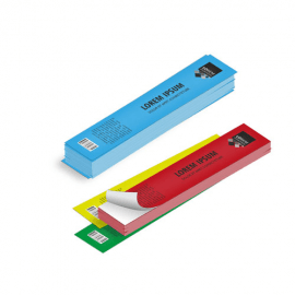 Etichette cm.3,5x31,6 adesiva colorata
