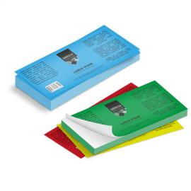 Etichette cm.7,4x21 adesiva colorata