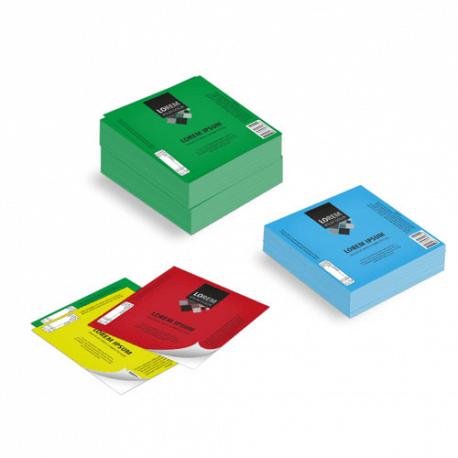 Etichette cm.12,5x12,5 adesiva colorata