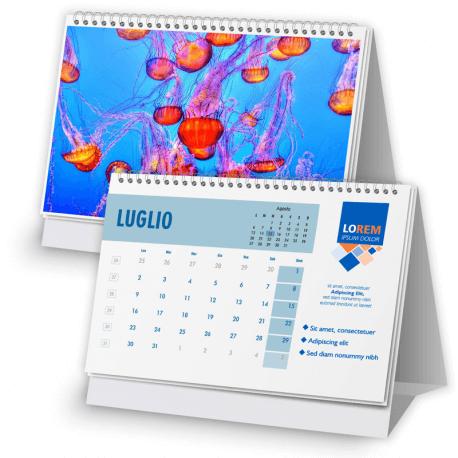 Calendario 16,5x11,5 - fogli 12+1 - f/retro