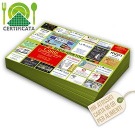 Tovagliette carta certificata 90 gr stampa a colori