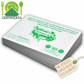 Tovagliette carta certificata 90 gr stampa 1 colore