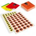 Etichette in carta adesiva Fluo-Oro-Argento