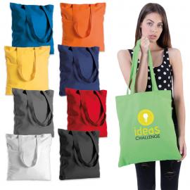 Borsa shoppers in cotone colorato 130gr