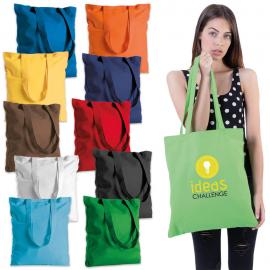 Borsa shoppers in cotone colorato 220gr