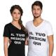 t-shirt unisex scollo a V