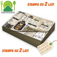 Tovagliette carta certificata 90gr stampa bifacciale