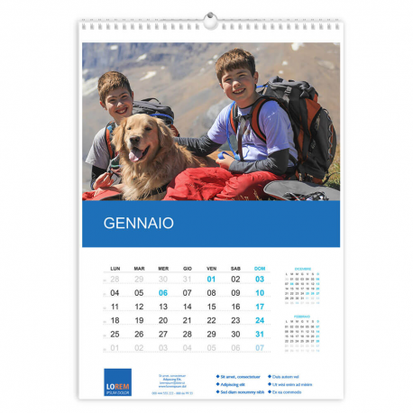 Calendario A3 fogli 6+1 f/retro
