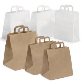 Busta shopper in carta kraft manici piatti