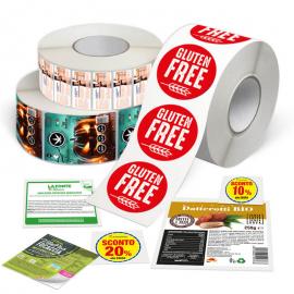 Etichette adesive in carta su bobina