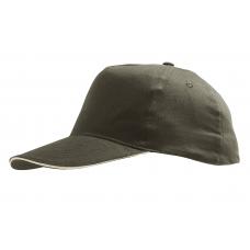 Cappellino adulto 5 pannelli cotone spazzolato
