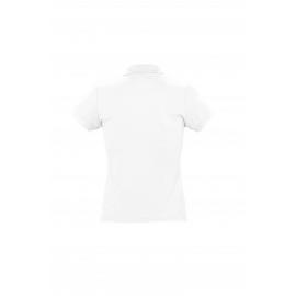 Polo Donna manica corta bianca 170gr