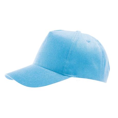 Cappellino bimbo/a 5 pannelli cotone spazzolato