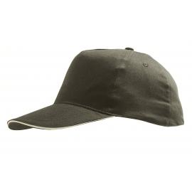 Cappellino adulto 5 pannelli cotone spazzolato ricamato